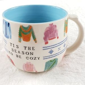 Anthropologie Tis the Season to be Cozy mug
